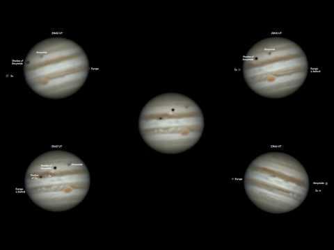 Jupiter with Ganymède, Io and Europe   -   20160316