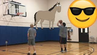 Crazy HORSE Basketball Game With Brian!