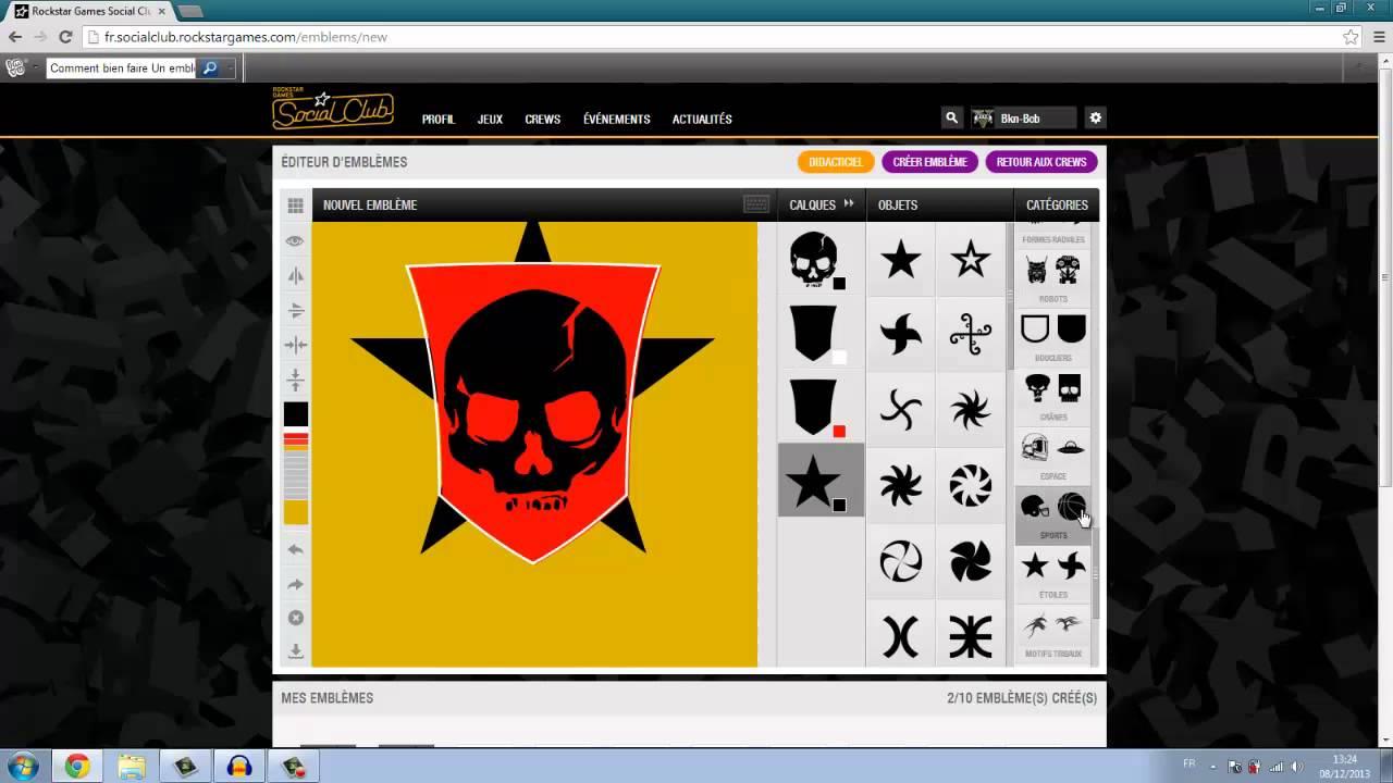 Comment cr er un logo pour son crew gta 5 online youtube - Creer son skateboard ...