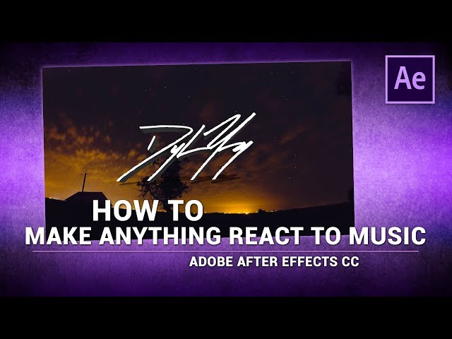 Adobe After Effects / How to Make ANYTHING React to Music/Audio
