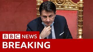 Italian Prime Minister Giuseppe Conte resigns  - BBC News