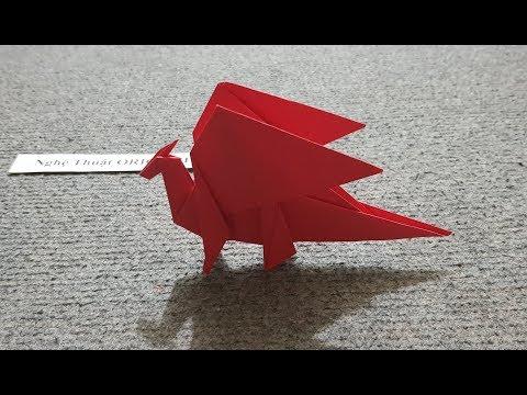 ORIGAMI - Hướng dẫn cách gấp con rồng đơn giản #2 - Origami Dragon
