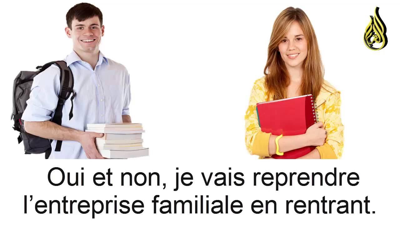 حوار باللغة الفرنسية مشروح بالعربية Youtube