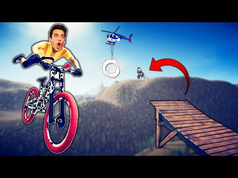 I JUMPED MY BIKE INTO A HELICOPTER?! (Descenders)