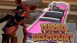 FOXY DISMOUNTS THE WORLD | Turbo Dismount | Funny Moments (Five Nights at Freddy