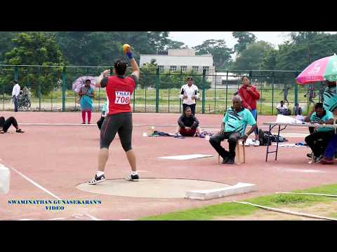 WOMEN'S SHOT PUT  FINAL.  57th National Open Athletics Championships 2017