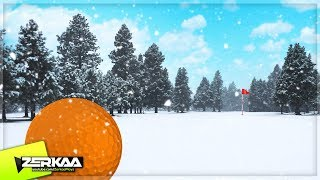 FULL SIZED SNOW GOLF COURSE! (Golf It)