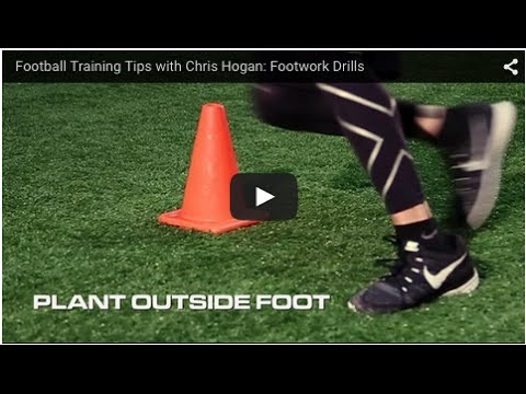 Football Training Tips with Chris Hogan: Footwork Drills