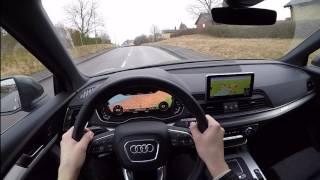 2017 Audi Q5 2.0 TDI Quattro S-line 60 FPS POV/test drive acceleration