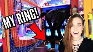 I LOST MY RING IN AN ARCADE GAME!!
