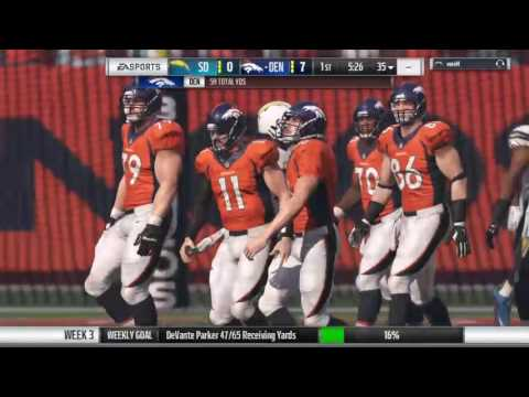 Madden 17 franchise NFLcz season 3 Week 3 Broncos @ Chargers