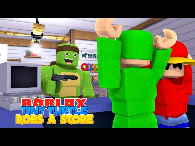ROBLOX Adventure - TINY TURTLE ROBS A STORE & THE LIL GANG IS BORN!!!