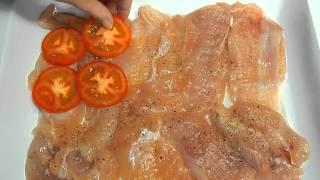 Куриное филе рецепт.Куриное филе запеченное с помидорами и сыром. Рецепты проще простого.