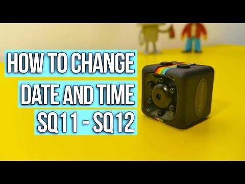 How to change date and time on SQ11 mini full HD camera