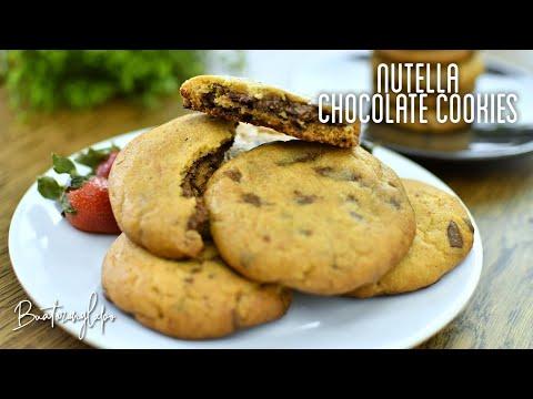 biskut-coklat-inti-nutella-sukatan-cawan-dan-gram-|-nutella-stuffed-chocolate-cookies-cup-&-gram