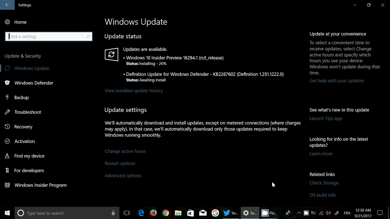 Windows 10 insider preview build 16294 released late fast ring windows 10 insider preview build 16294 released late fast ring september 20th 2017 ccuart Gallery