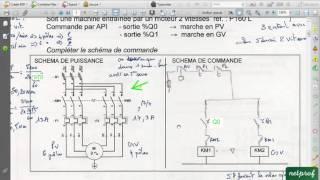 Variateur de vitesse 1  Moteur 2 vitesses et câblage avec API