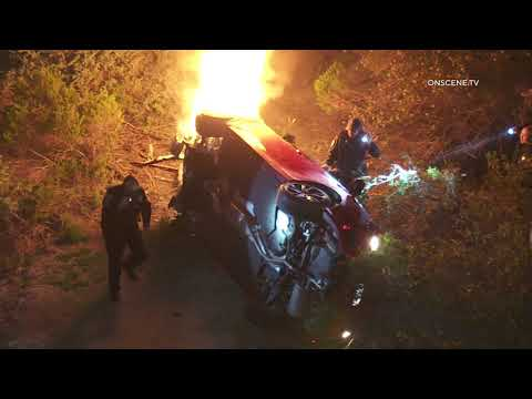 *Caught on Camera* Dramatic Fiery Pursuit Crash Rescue  | Camp Pendleton