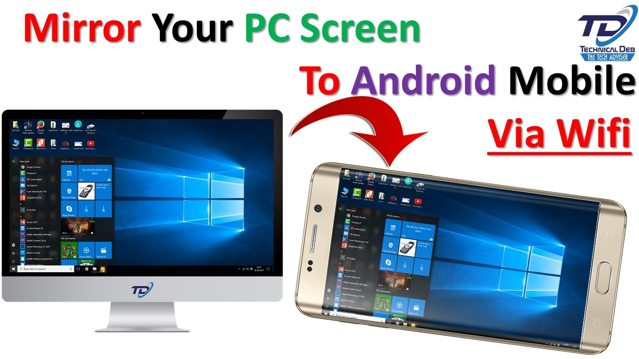 How to mirror your pc screen to your android mobile via for Mirror your android screen to a pc