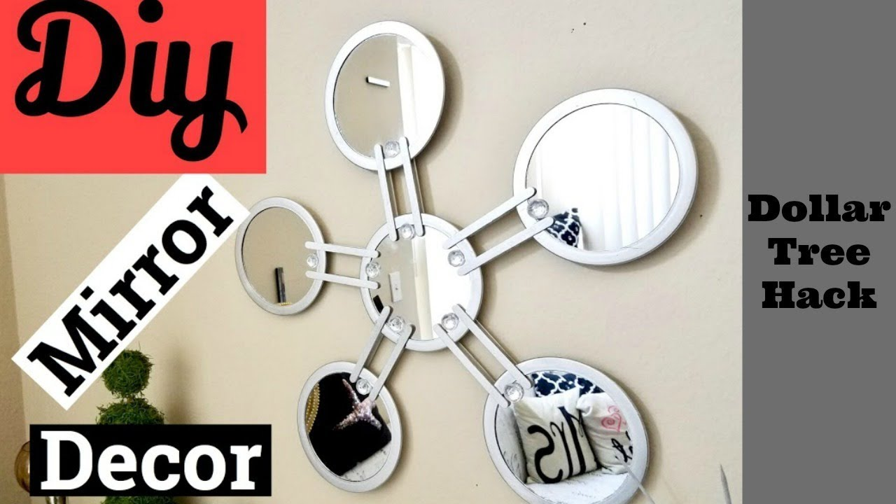 Wall Decor Using Mirrors : Diy mirror wall art using dollar tree items