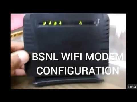 BSNL MODEM SETTINGS/CONFIGURATIONS