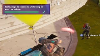DEAL DAMAGE TO OPPONENTS WHILE USING AT LEAST ONE BALLOON - Fortnite Week 8 Season 8 Challenge