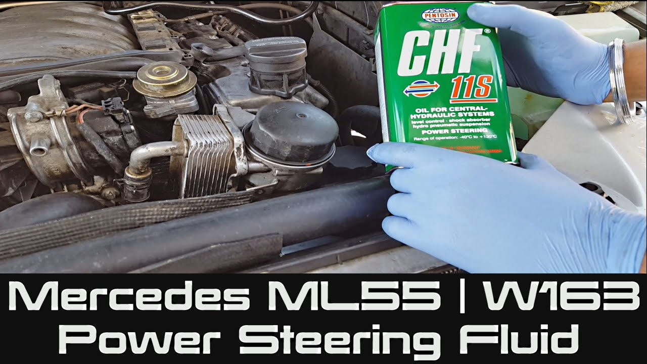How To Change Power Steering Fluid On Mercedes Ml55 W163 Youtube