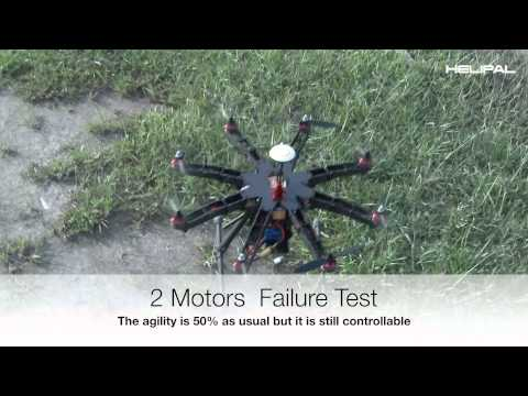 Motor Failure Test for Storm Drone 8 Octocopter - Helipal.com