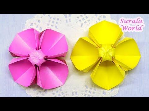 Paper Flower DIY : Evening Primrose / How to make an Origami  Flower