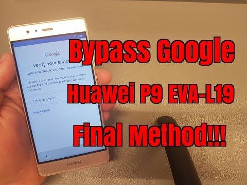 BOOM!!! Huawei P9 EVA-L19. Remove Google Account,Bypass FRP.