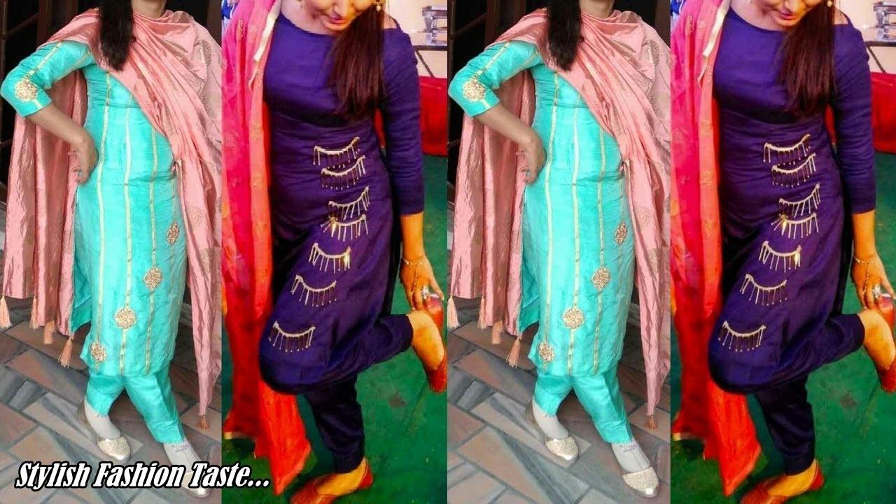 Punjabi Suit Fashion Latest Punjabi Suit Design For Women Punjabi Salwar Suit Design 2019 Youtube