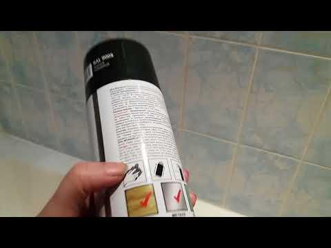 Реставрация шкафчиков в ванной. Акриловая краска аэрозоль Monarca.