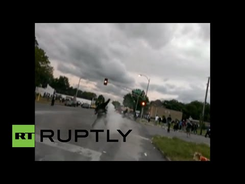 RAW: Tear gas in Ferguson as protesters clash with police