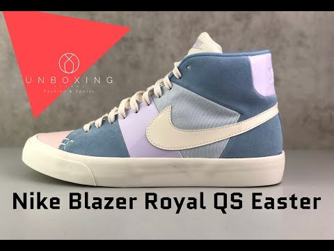 Arsenal Solitario Cuadrante  Nike Blazer Royal QS Easter 'Arctic Pink/Leche Blue/Sail' | UNBOXING & ON  FEET | fashion shoes - YouTube