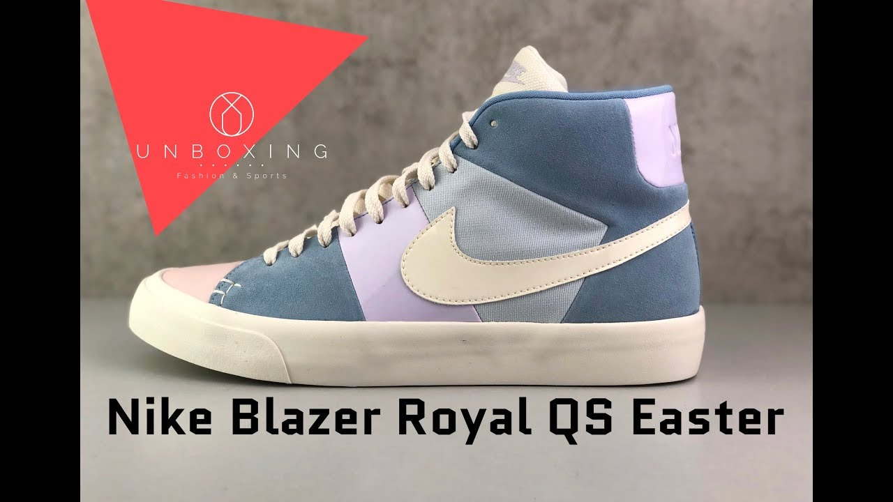 purchase cheap 69d66 39e10 Nike Blazer Royal QS Easter  Arctic Pink Leche Blue Sail    UNBOXING   ON  FEET   fashion shoes