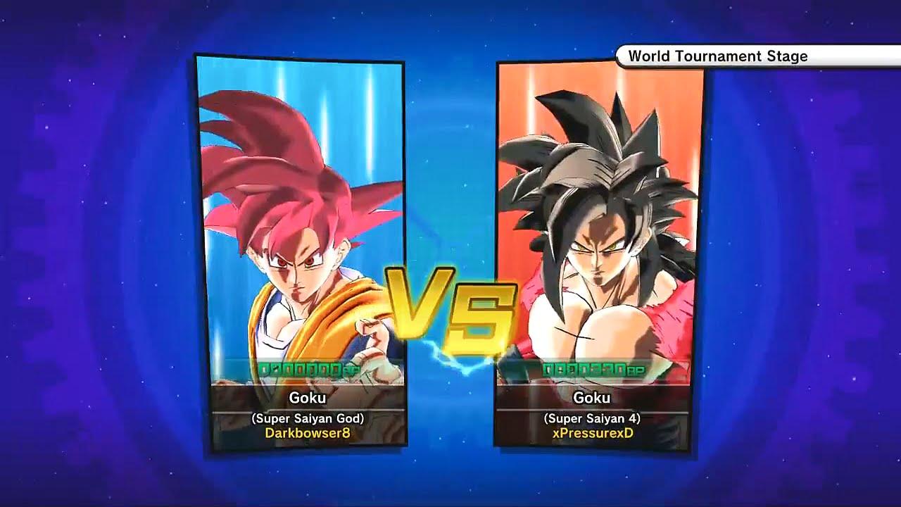 dragon ball xenoverse fights super saiyan god goku vs super