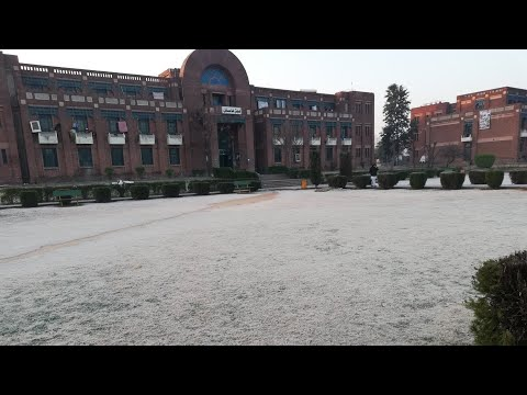 Snowfall at International Islamic University Islamabad - IIUI