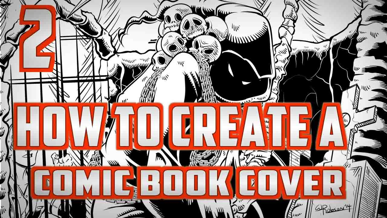 How To Create a Comic Book Cover Part 2  YouTube