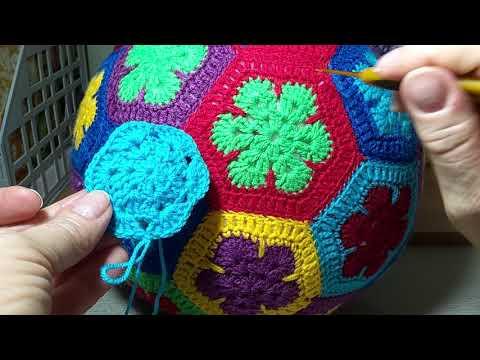 Мотив ,,Африканский цветок,, . Мяч - игрушка, подушка.