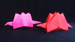 Cara Membuat Origami Dinosaurus Stegosaurus | Origami Binatang