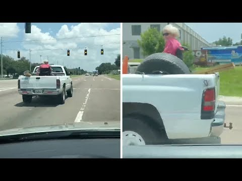 Josh Healy - Wheelchair Granny in the Back of a Pickup Truck