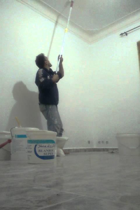 D coration et peinture de gout du plafond chambre d 39 enfant youtube - Peinture plafond chambre ...