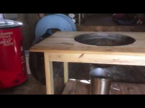 Weber Charcoal Hanging Grill Table Youtube