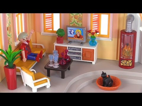Playmobil comfortable living room review set 5332 youtube for Living room of satoshi review