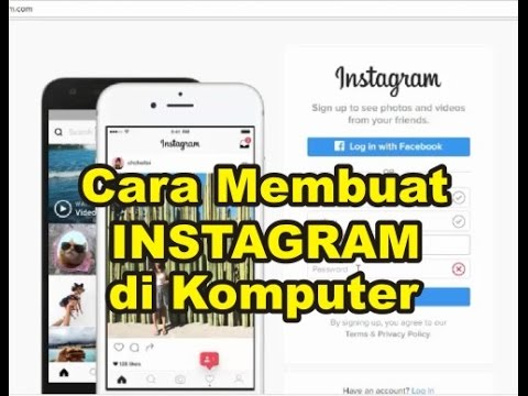 Cara Membuat Akun Instagram Baru Di Komputer Pc Youtube