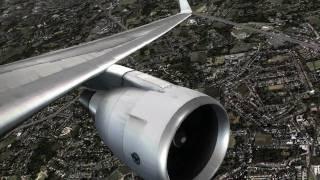 [HD] FSX -  Stunning Effects - Aerosoft Frankfurt to Mallorca X- (Captain Sim 767)