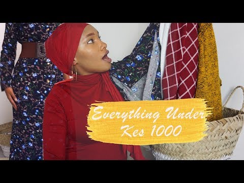 Everything Under 1000 Shillings | Markiti Try On Haul | Mombasa