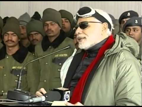 PM Modi addresses the Officers & Jawans of the Indian Armed Forces, at Siachen Base Camp
