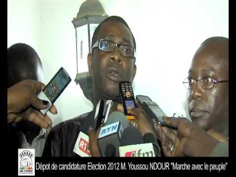 Youssou Ndour depot de sa candidature