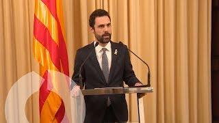 Torrent propone a Puigdemont y pide a Rajoy una reunión para negociar cómo investirlo